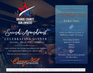 Orange County Gun Owners 2nd Amendment Celebration Dinner